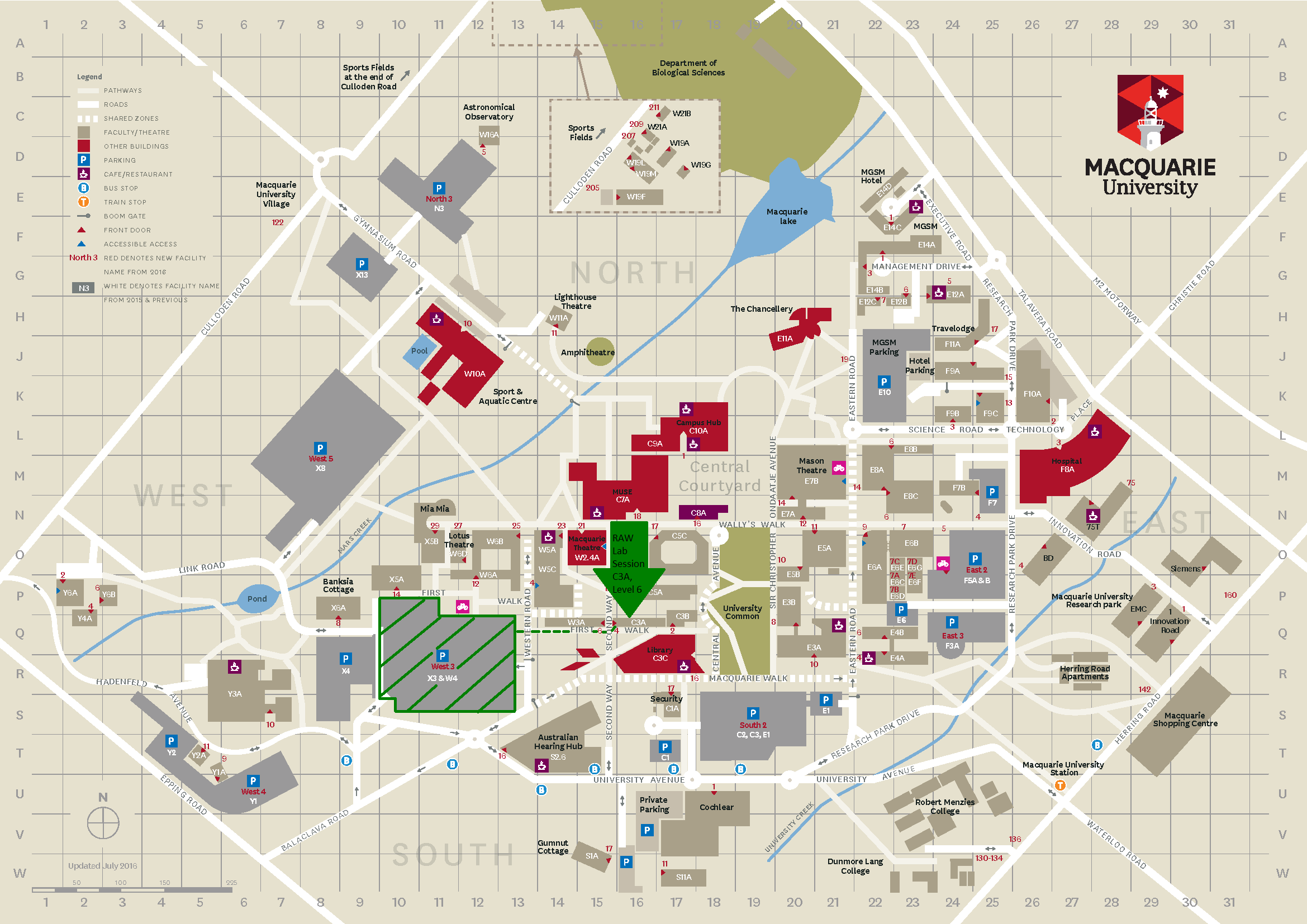 Raw Project Campus Map